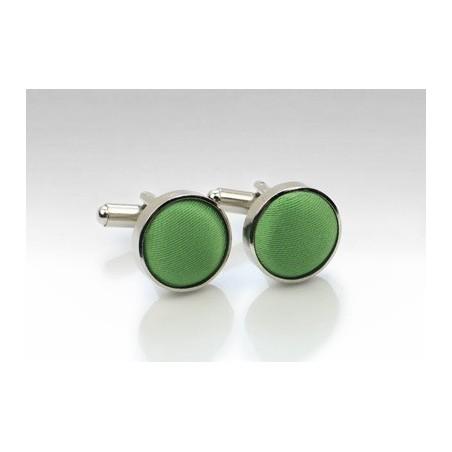Clover Green Fabric Covered Cufflinks