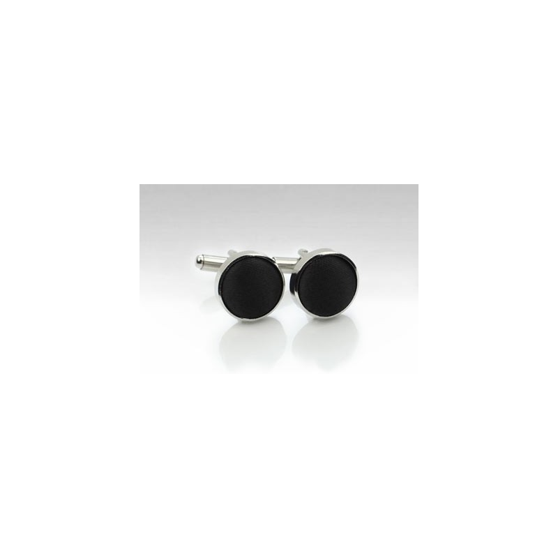 Fabric Cufflink Studs in Black