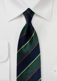 Regimental Striped Silk Necktie