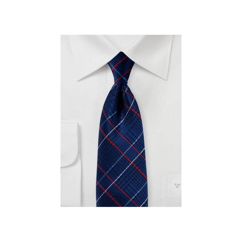 Sapphire Blue Glen Check Tie