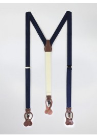 Dark Navy Fabric Suspenders