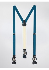 Dark Teal Blue Dress Suspenders