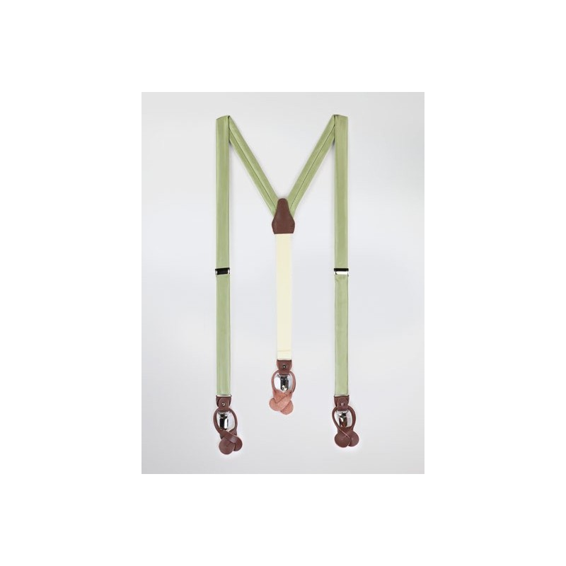 Light Sage Colored Suspenders