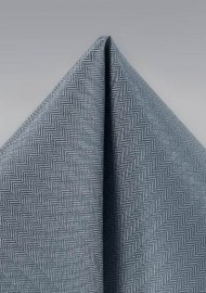 Obsidian Gray Pocket Square