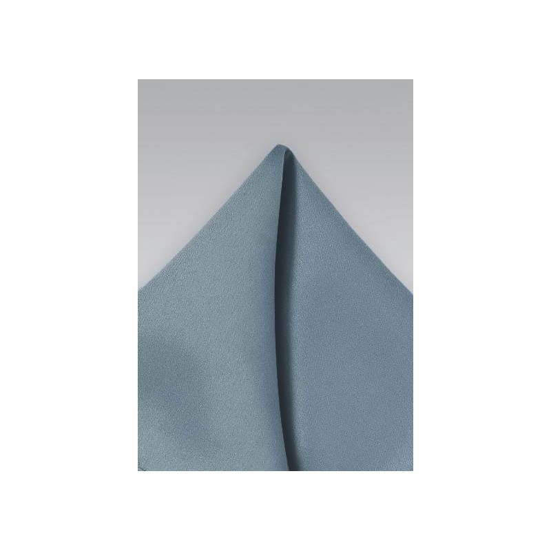 Dusty Blue Mens Pocket Square
