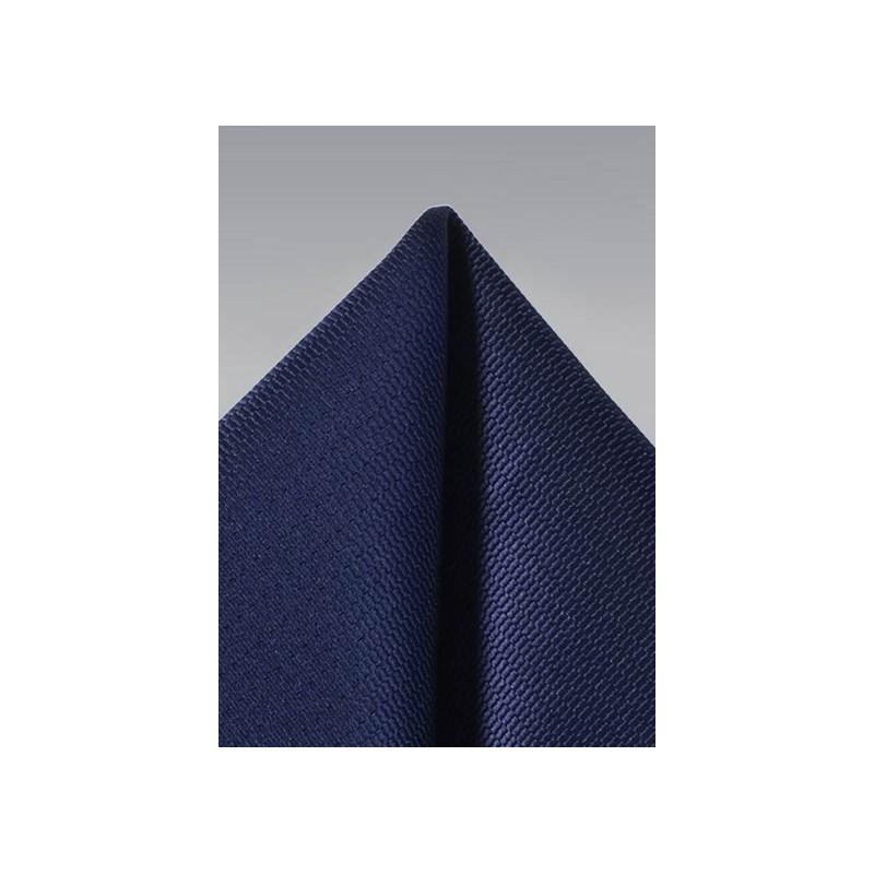 Shiny Navy Suit Hanky