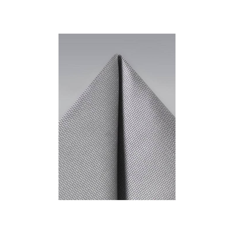 Suit Pocket Square in Sterling