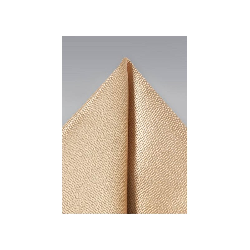 Golden Champagne Mens Pocket Square