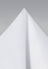 Bright White Formal Pocket Square