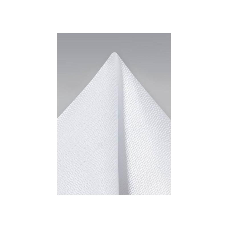 Bright White Formal Pocket Square