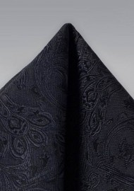Formal Woven Hanky in Black