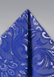 Morning Glory Blue Paisley Hanky