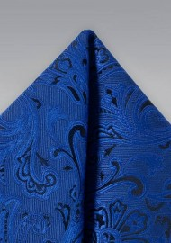 Royal Blue Paisley Hanky