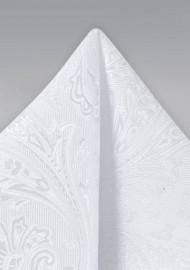 Bright White Suit Hanky