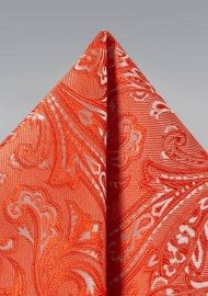 Paisley Hanky in Tiger Lily