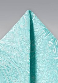 Paisley Hanky in Robins Egg Blue