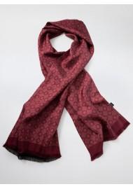 Merlot Red Medallion Print Silk Scarf