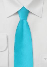 Bright Aqua Mens Skinny Tie