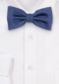 Heather Slate Blue Bow Tie
