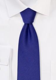 Ultramarine Woolen Tie in Modern Width
