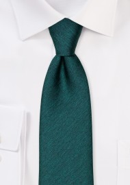 Modern Cut Necktie in Gem Green