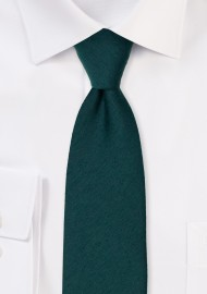 Woolen Tie in Forest Green