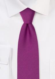 Woolen Matte Woven Tie in Sangria