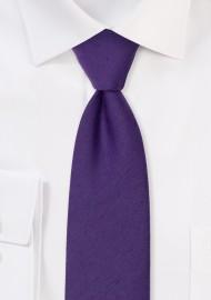 Modern Cut Grape Woolen Necktie