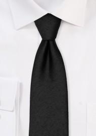 Contemporary Woolen Black Tie