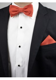 Autumn Bow Tie in Cinnamon Styled