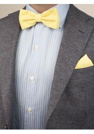 Lemon Chiffon Bow Tie by Puccini