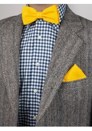 Marigold Mens Bow Tie Styled