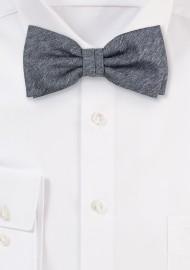 Woolen Charcoal Bow Tie