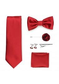 cherry red menswear set