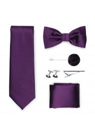 wine red formal menswear tie set