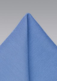 Trendy Ash Blue Pocket Square