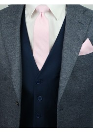 skinny wedding tie in bridal pink in matte cotton