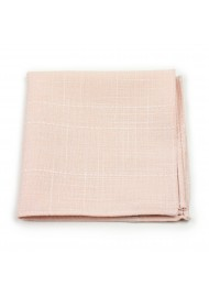 hanky in peach pink in cotton fabric matte finish