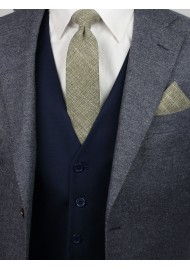 casual skinny cotton tie in moss green