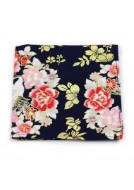 vintage floral printed pocket square suit hanky