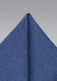 Slate Blue Mens Pocket Square