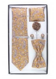 6-piece menswear set in caramel paisley