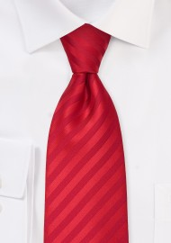 Solid color red necktie - Stain resistant Microfiber tie in bright red