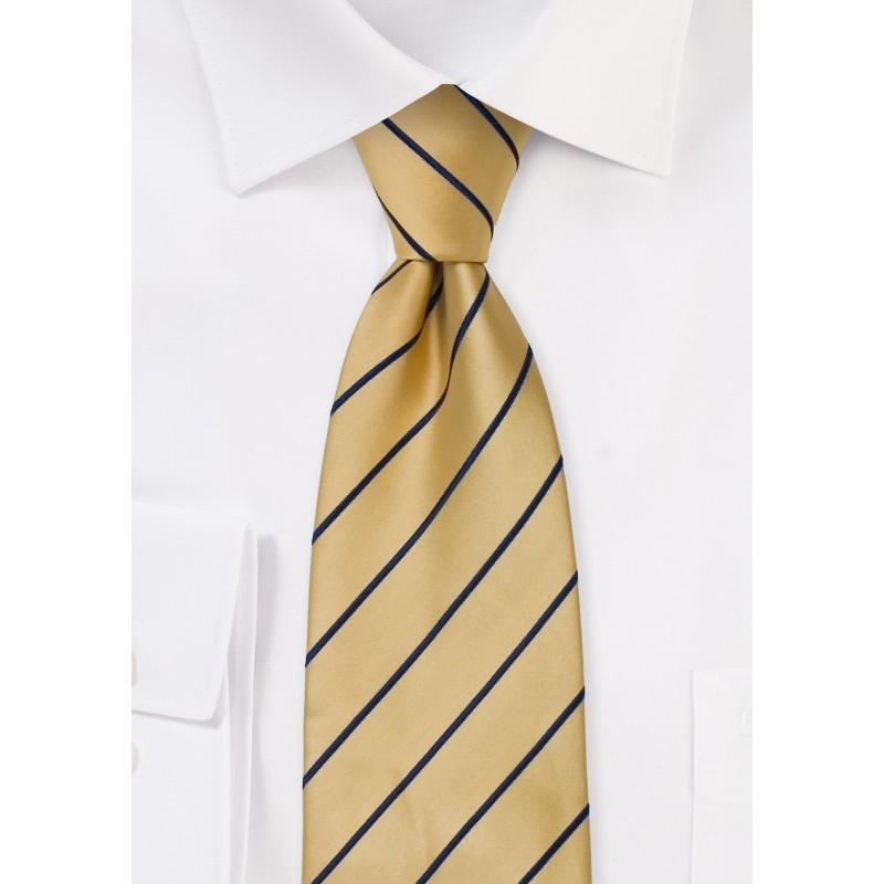 Striped men's ties - Yellow and blue necktie