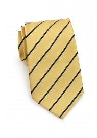 Striped men's ties - Yellow and blue necktie