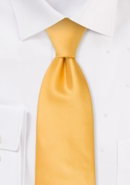 Solid color mens ties - Solid yellow necktie