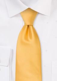 Solid Yellow Kids Tie