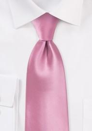 Solid Pink Kids Necktie