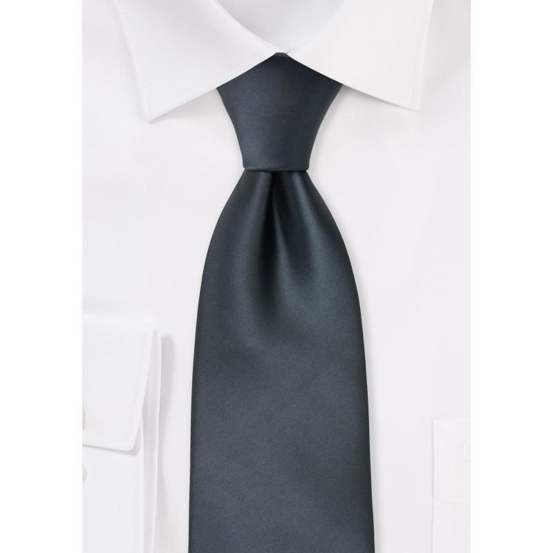 Kids Necktie in Smoke Gray