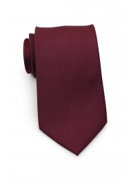 Matte Sheen XL Length Tie in Maroon